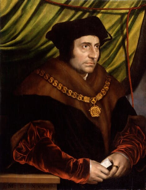 A portrait of Sir Thomas More after Hans Holbein the Younger.