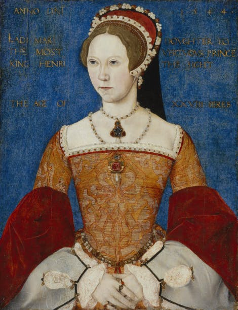 Queen Mary I by Master John, 1544.  National Portrait Gallery, NPG 428
