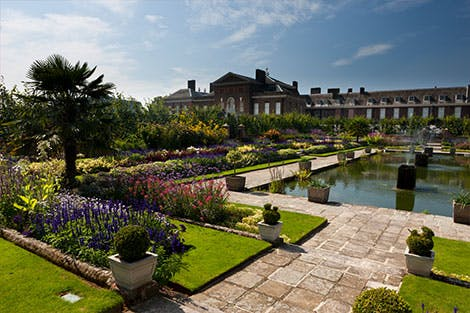 Kensington Palace Gardens in daylight