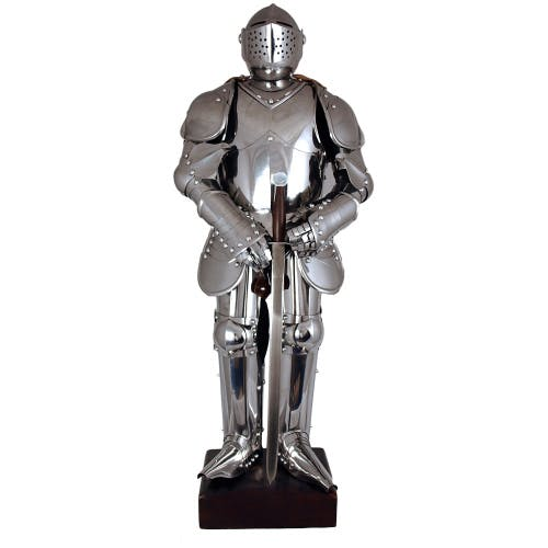 Miniature armour - suit of armour made to one-third the scale of the original.
