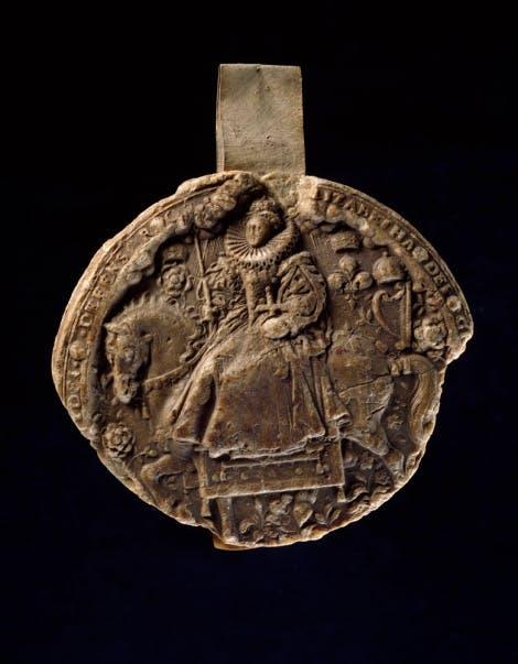 Seal impression of Queen Elizabeth I