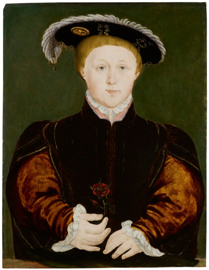 A painting of King Edward VI after Hans Holbein the Younger