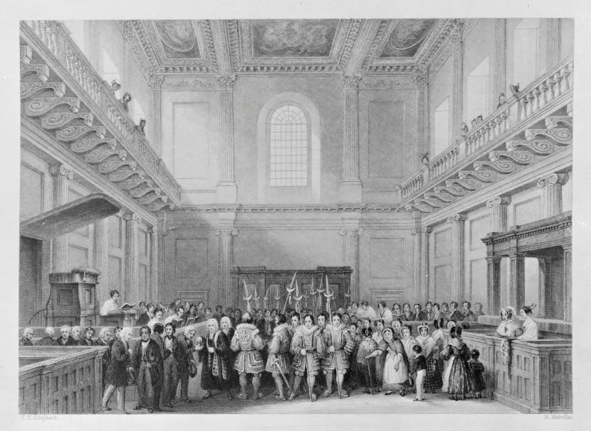 The Distribution of Royal Maundy in the Chapel Royal, Whitehall