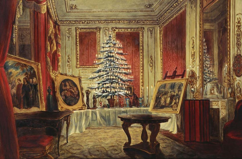 Painting of Queen Victoria's Christmas Tree
