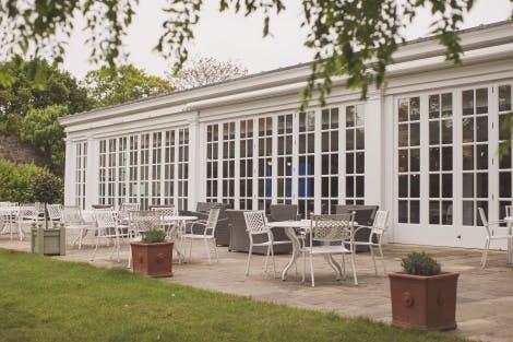 Garden room at Hampton Court Palace