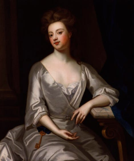 A portrait of Lady Sarah Churchill, Duchess of Marlborough, after Sir Godfrey Kneller, Bt.