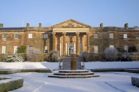 Rear view of Hillsborough Castle in the snow