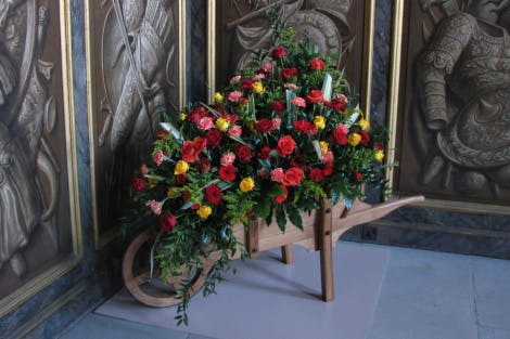 Floral displays in the King's Apartments of Hampton Court Palace as part of Florimania 2017.