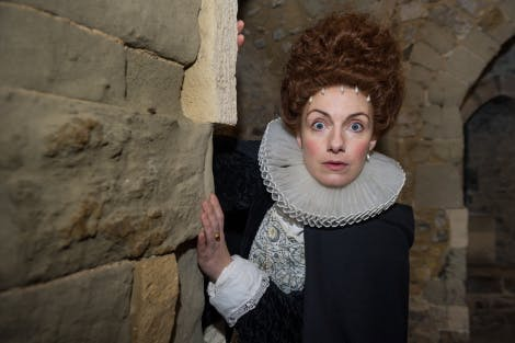 Actor dressed as Lady Arbella Seymour for Prisoner's Perilous Plot Digital Mission