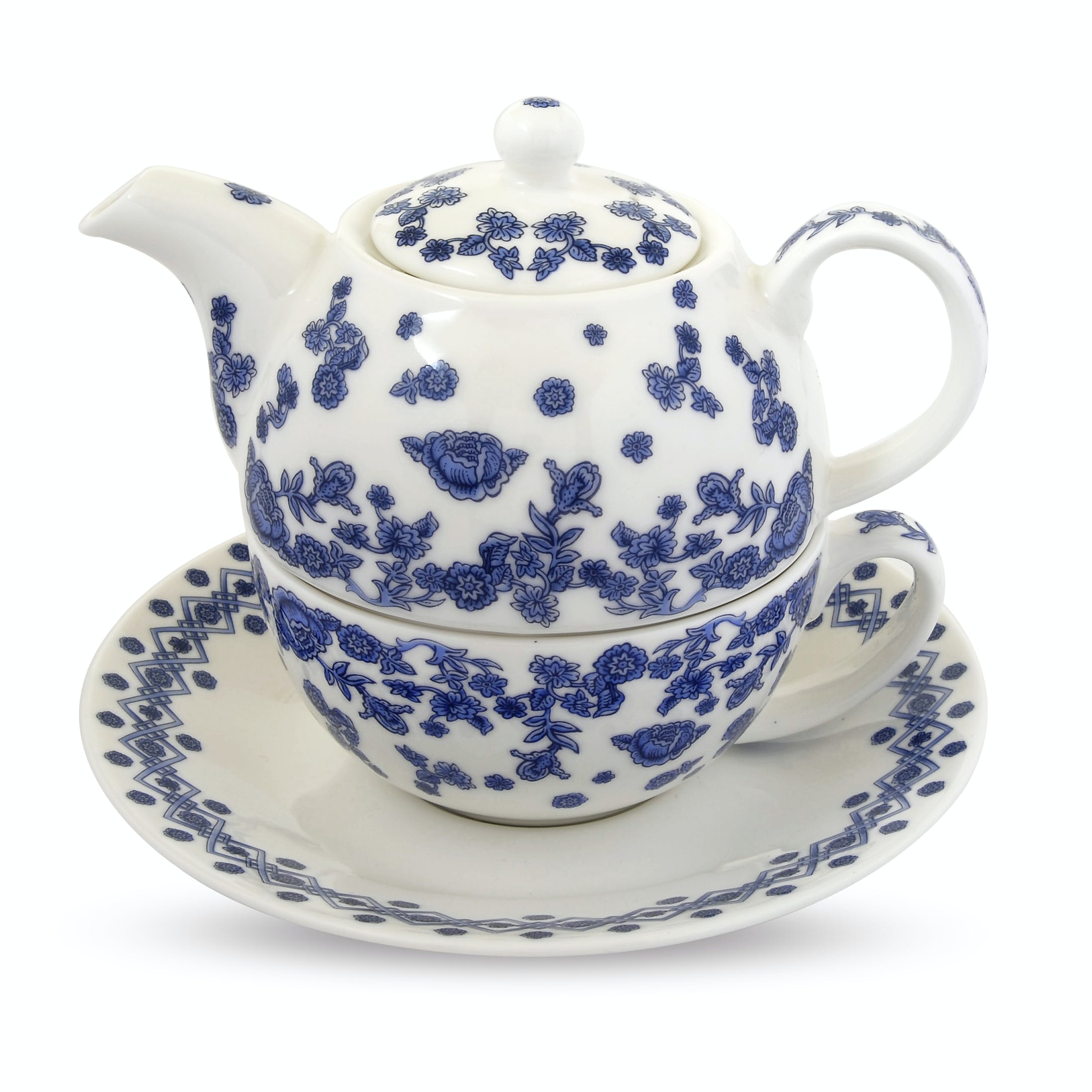 Inspired by the delft ceramic collection of Queen Mary, this fine bone china tea for one set is perfect for afternoon tea.