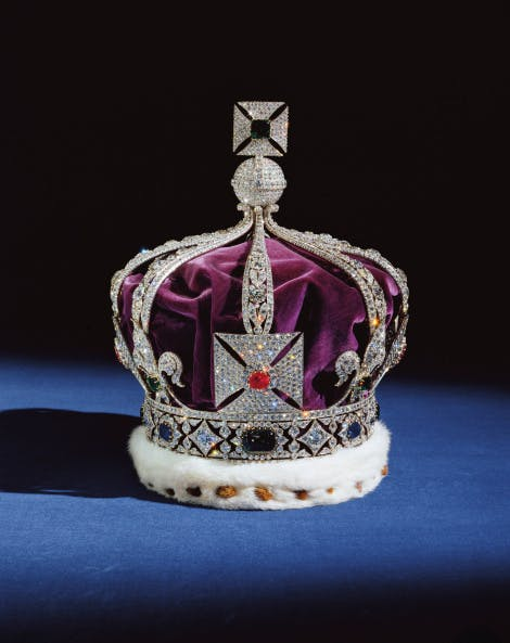 Image of The Imperial Crown of India, made for George V's appearance, as Emperor of India, at the Delhi Durbar of 1911