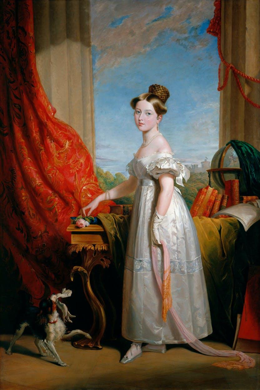 Queen Victoria as a princess with dash.