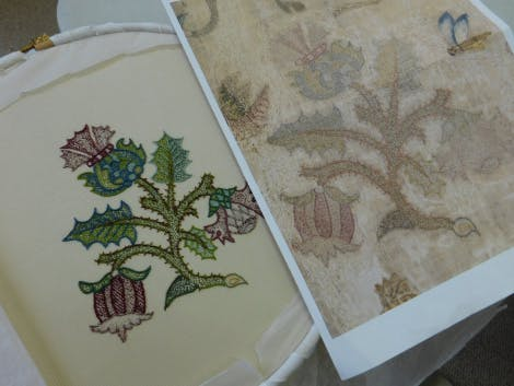 experimental project highlighting the skill and processes of the original Elizabethan embroiderer.