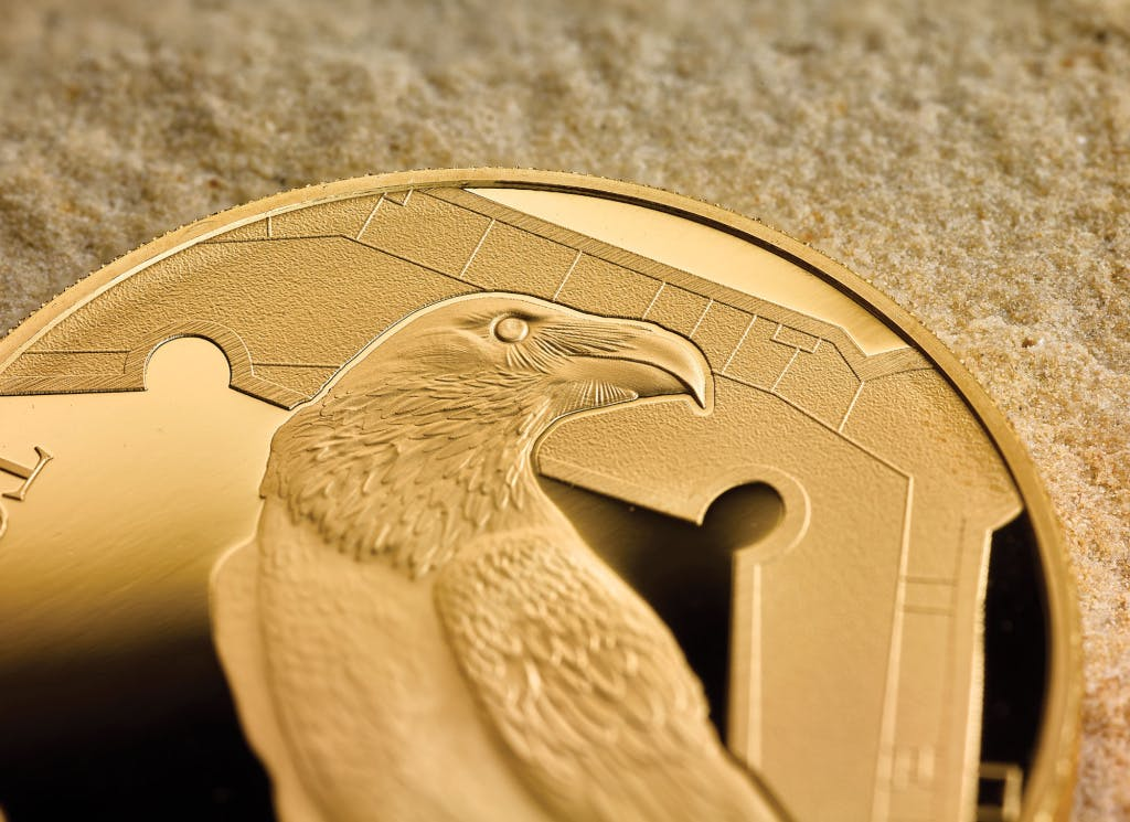 The Royal Mint - Raven coin