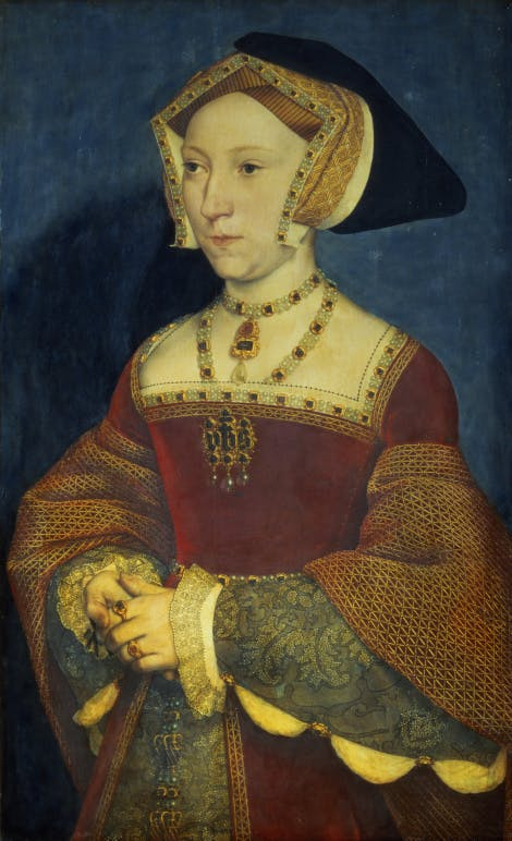 Jane Seymour (1509-37) Queen Consort of England; Holbein the Younger, Hans (1497/8-1543) / Kunsthistorisches Museum, Vienna, Austria / Bridgeman Images