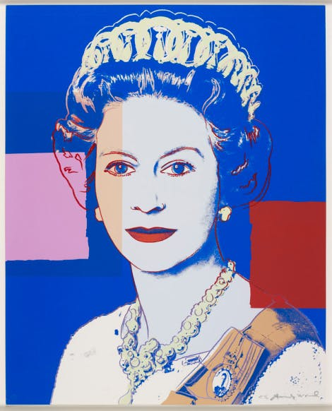 Reigning Queens (Royal Edition): Queen Elizabeth II, 1985 by Andy Warhol.
