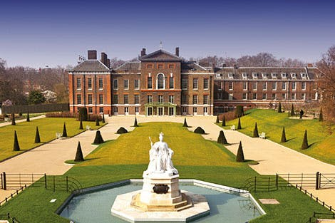 Photograph of the East Front of Kensington palace as a panoramic