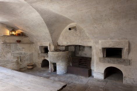 The Royal Kitchens. The bakehouse, looking north west