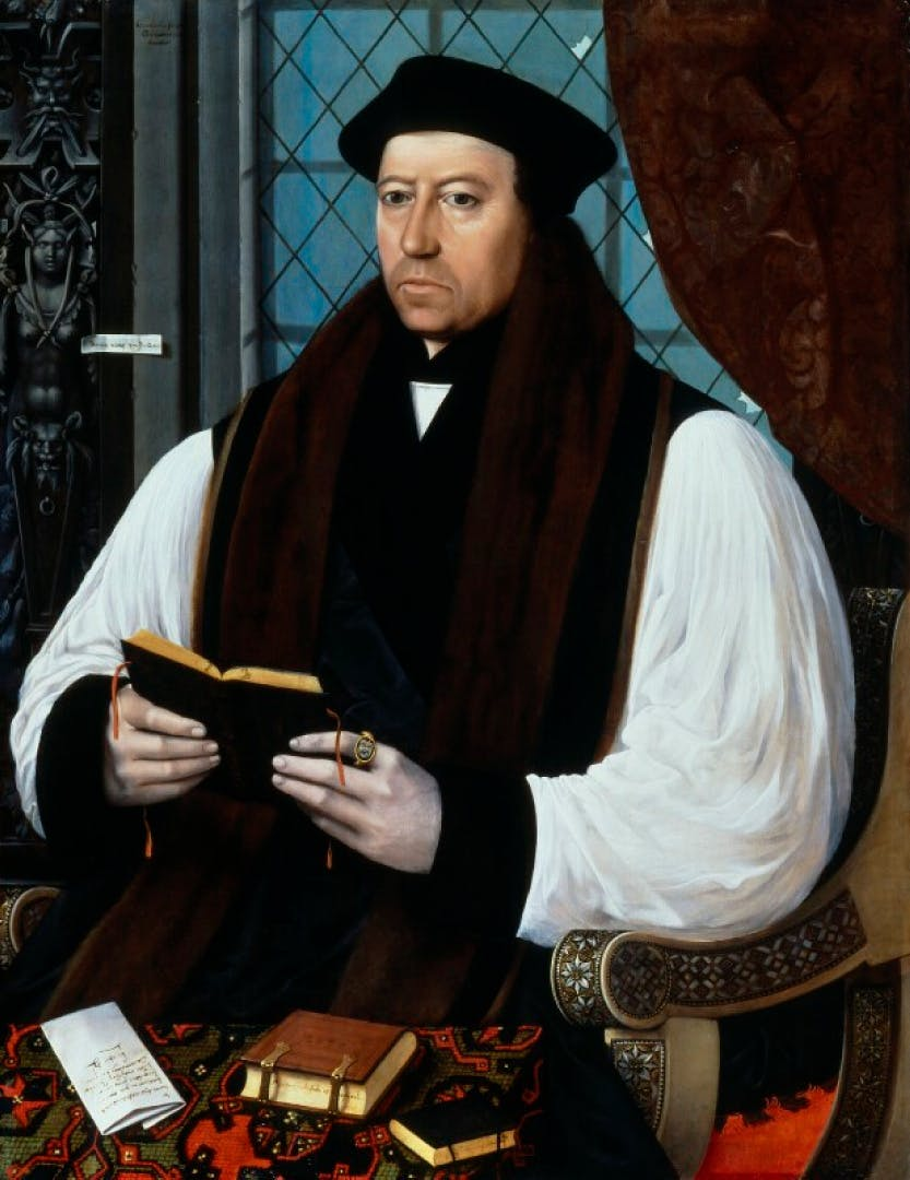 Portrait of Thomas Cranmer (1489-1556), Archbishop of Canterbury by Gerlach Flicke