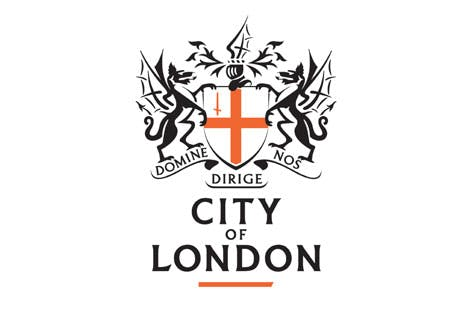 Red and black City of London Corporation logo