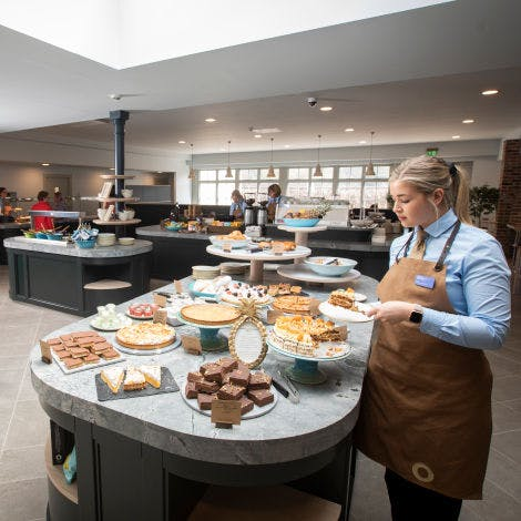 A view of the cafe in the Lower Visitor Centre at Hillsborough Castle and Gardens.