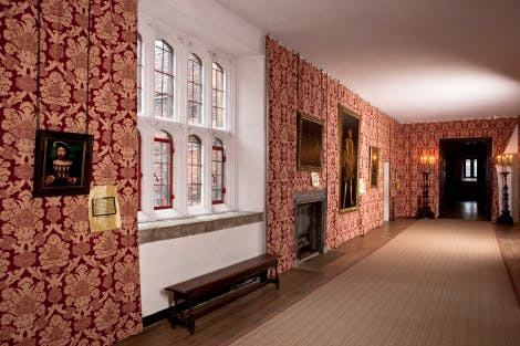 The Haunted Gallery at Hampton Court, looking west.