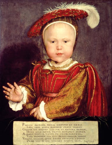 Portrait of Edward VI as a child.  National Gallery of Art, Washington DC, USA / Bridgeman Images