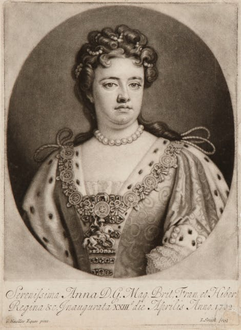 Engraving of Queen Anne