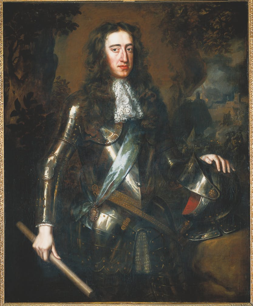 Portrait of William III of Orange by Wissing, part of the Royal Collection