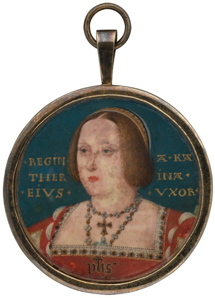 A portrait of Katherine of Aragon attributed to Lucas Horenbout (or Hornebolte)
