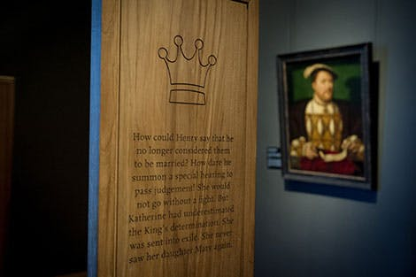 Photo of an exhibition at the Young Henry exhibition at Hampton Court Palace