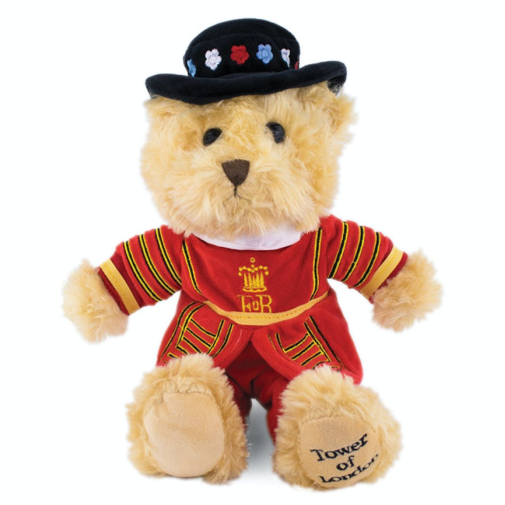 Beefeater teddy bear - teddy bear dressed in the red uniform of the Tower of London Yeoman.