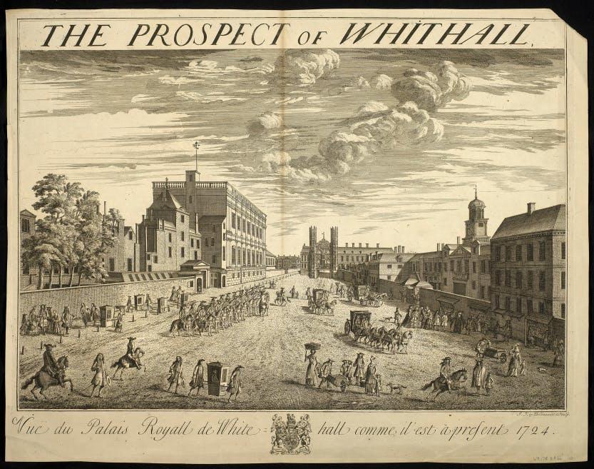 A landscape of Whitehall Palace