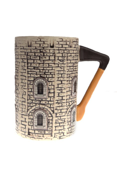Featuring a sculpted designed of the Tower of London and an axe-shaped handle, this novelty mug makes a great gift.