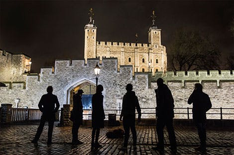 Photo of visitors taking part in The People's Revolt at the Tower