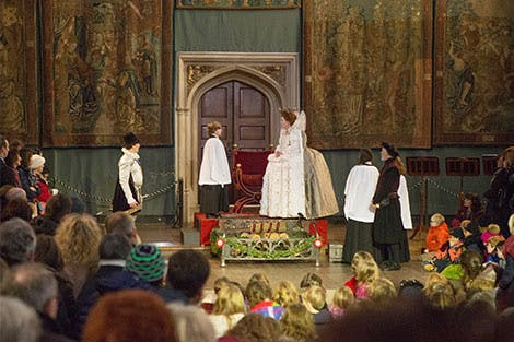 Performance of the Elizabethan Christmas at Hampton Court palace