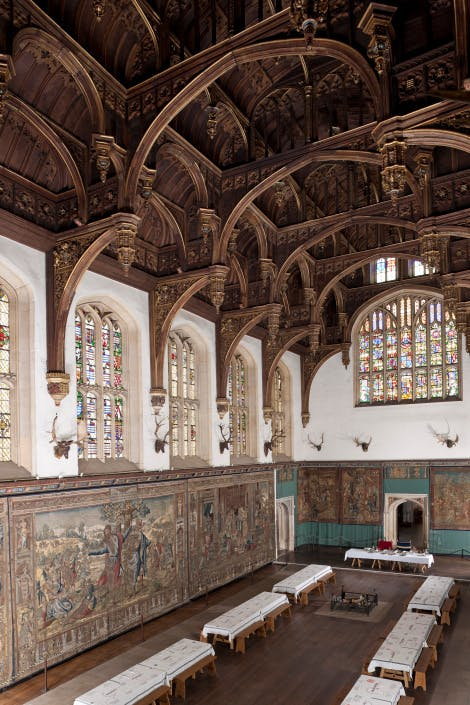 The Great Hall at Hampton Court Palace, looking north east