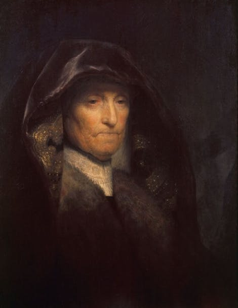 Rembrandt van Rijn: An old Woman called 'The Artist's Mother' c. 1627-9 Oil on panel Royal Collection