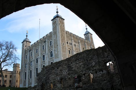 The White Tower inside the Tower of London from the North West side