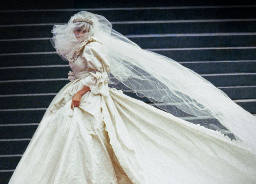 Diana, Princess of Wales in her wedding dress