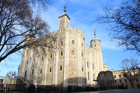 The White Tower in the Tower of London seen from the South East and Chapel corner