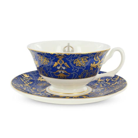 Image is of a tea cup and saucer with our exclusive design.