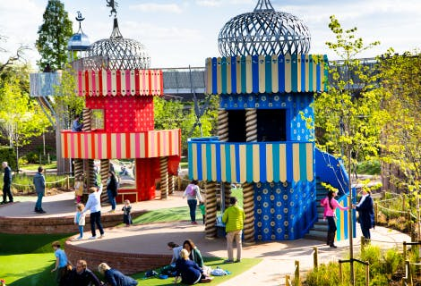 The King's and Queen's towers in the Magic Garden