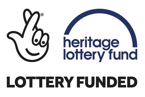 Heritage Lottery Fund logo on a white background
