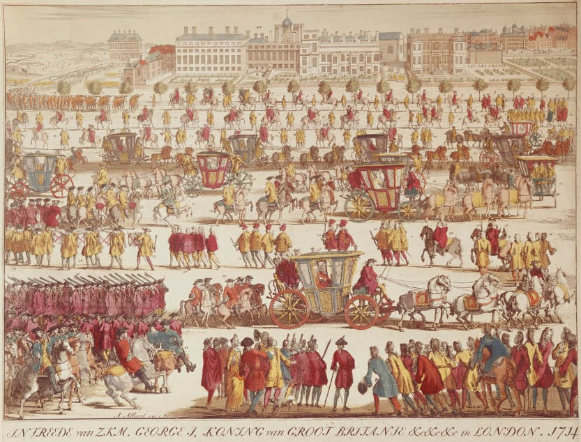 State Entry of George I and the Prince of Wales into London, 1714