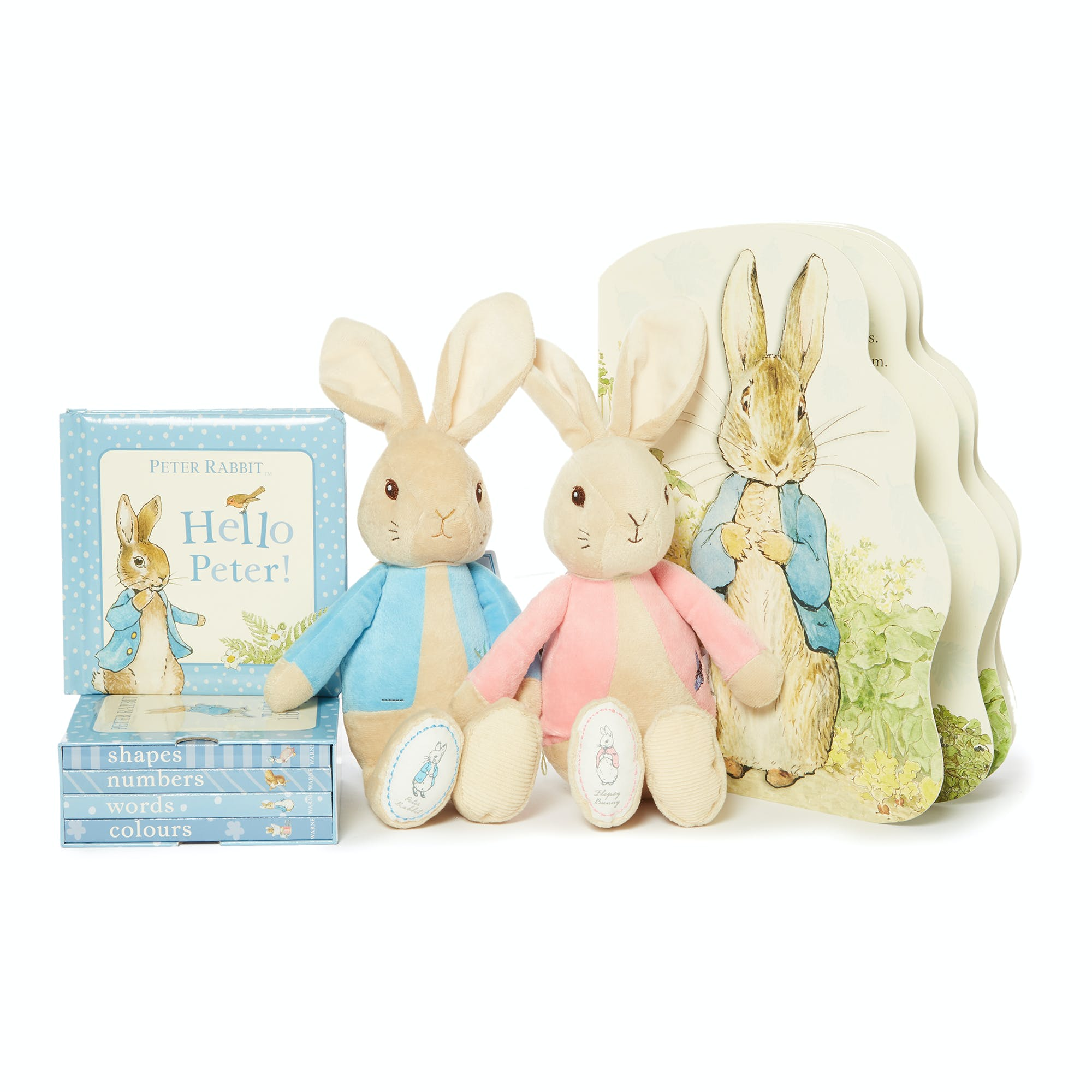 Peter Rabbit my first library book collection 2001001, My first Peter Rabbit soft toy 8003005, My first Flopsy Bunny soft toy 8003006, Peter Rabbit board book 40110.