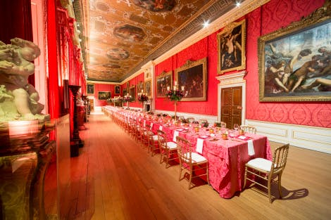 Dinner in the King's State Apartments at Kensington Palace