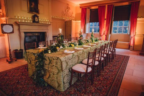 Dinner in the King's Dining Room for 14 people on one long table