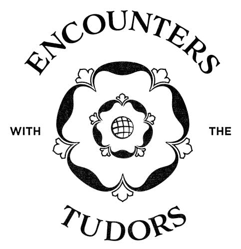Encounters with the Tudors, ink stamp logo, Tudor Rose
