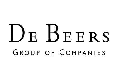 De Beers logo on white background